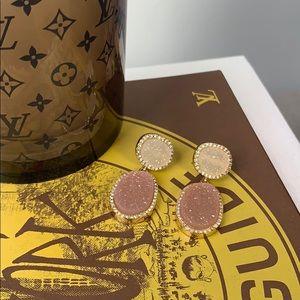BaubleBar Krystal Druzy Drops Earrings